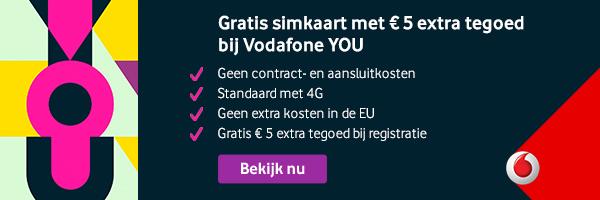 Vodafone gratis simkaart bestellen