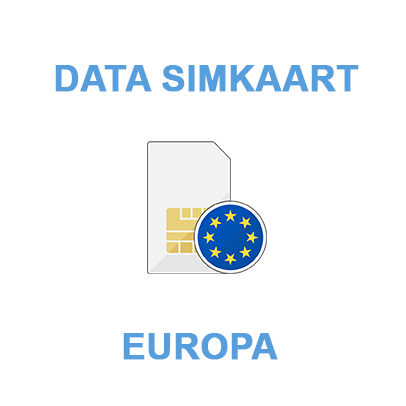 data simkaart - data only sim - Europa